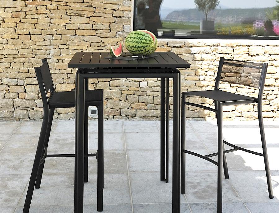 Fermob dans le finist re et le morbihan terrasse et demeureterrasse et demeure Table haute jardin design