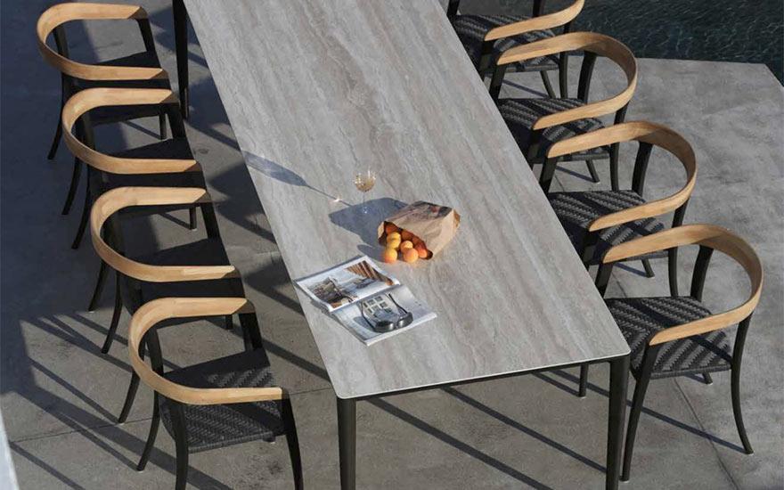 Table de jardin unit et fauteuils jive de Royal Botania