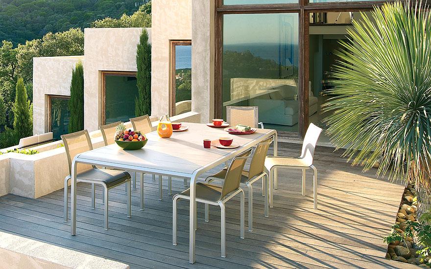 ego paris table a allonge chaise fauteuil repas tandem terrasse et demeureterrasse et demeure. Black Bedroom Furniture Sets. Home Design Ideas