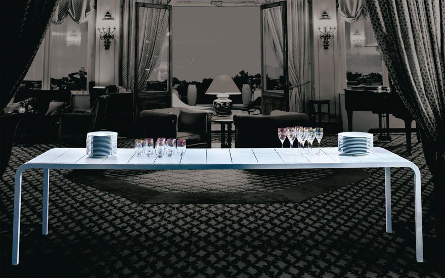 EGO PARIS Table SUR MESURE blanche TANDEM