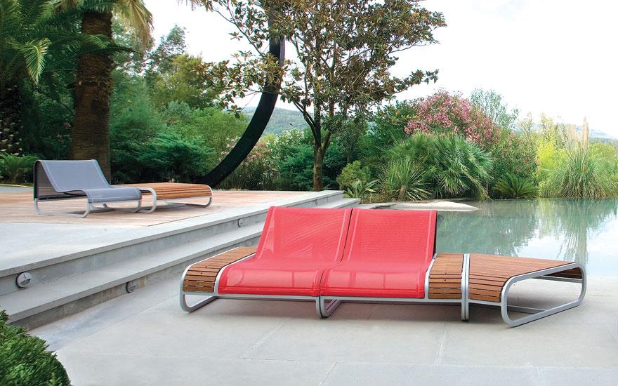 EGO PARIS MODULE CANAPE FAUTEUIL BAS BAIN DE SOLEIL TABLE Tandem Lounge
