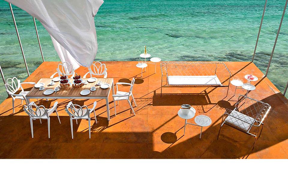 DRIADE Calder Thalideux - Table basse et fauteuil marguerite clubland canapé