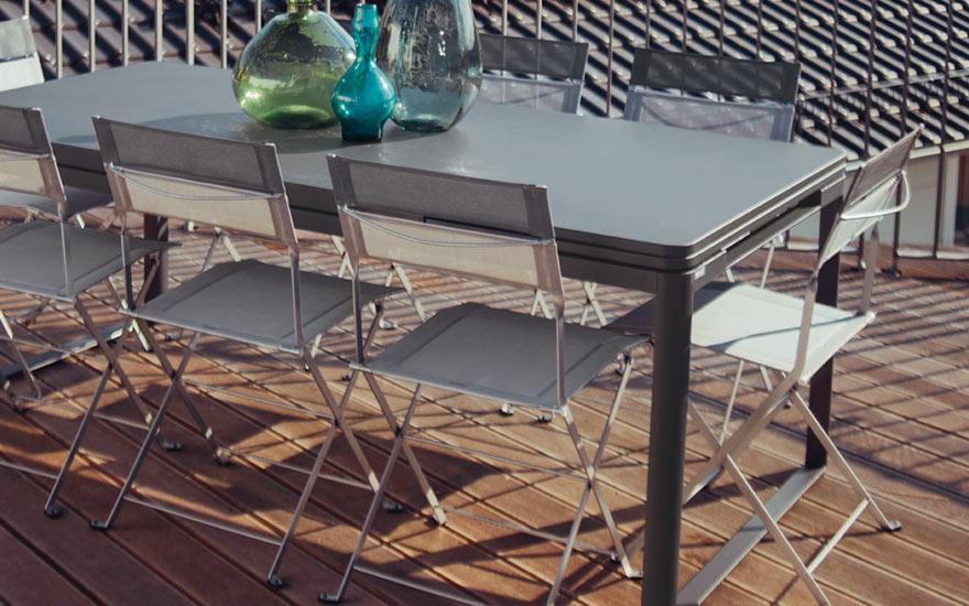 Collections Biarritz et Latitude de Fermob mobilier de jardin