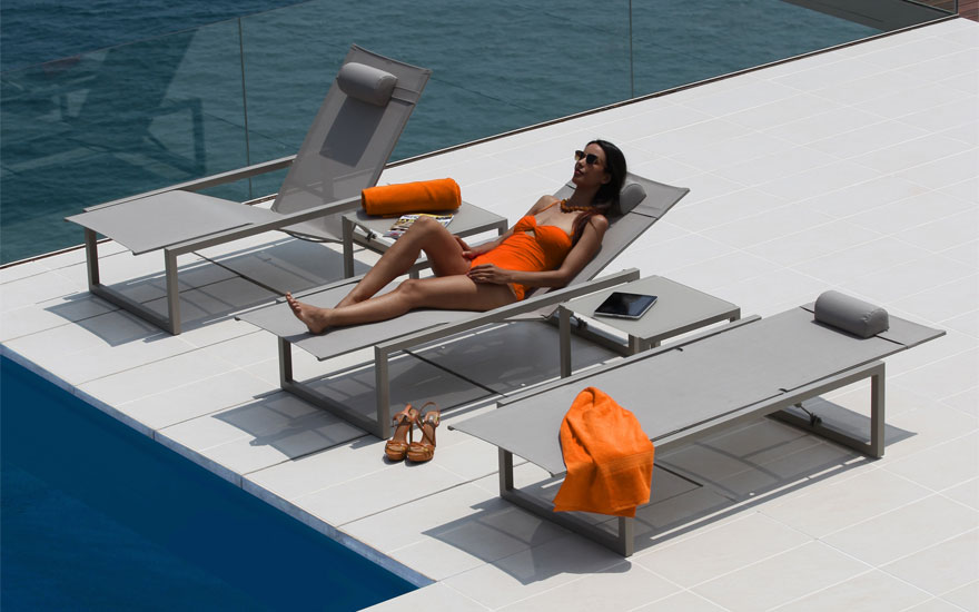 Bain de soleil et transat design terrasse et demeureterrasse et demeure - Bain de soleil contemporain ...