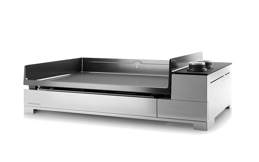 Plancha Premium 600 à gaz en inox forge adour