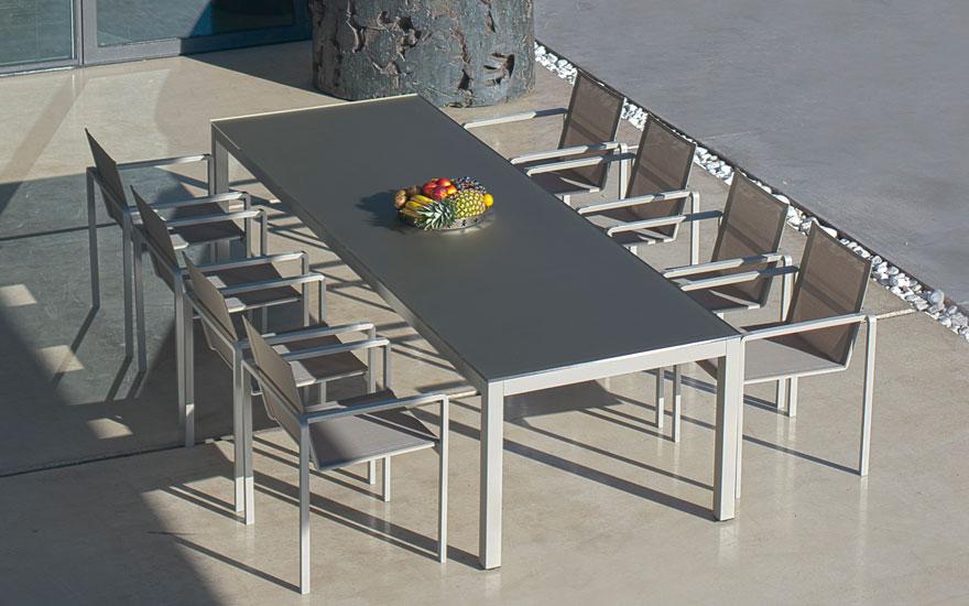 ROYAL BOTANIA Alura table chaise fauteuil empilable aluminium 4 couleurs