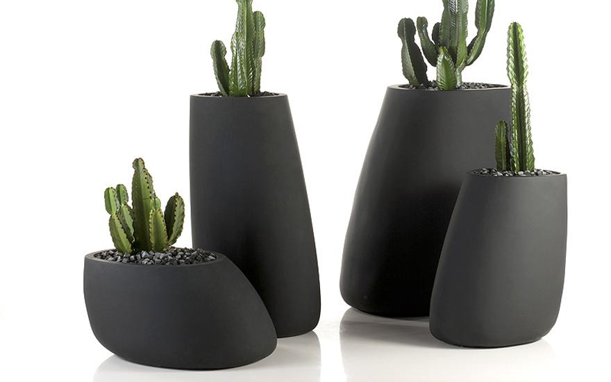 Pot et jardinière Stone