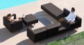 Canapé extérieur pouf fauteuil modulable lazy bronze Royal Botania