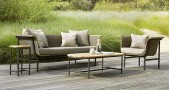 Vincent Sheppard canapes fauteuils table basse jardin Wicked Set Taupe Charcoal